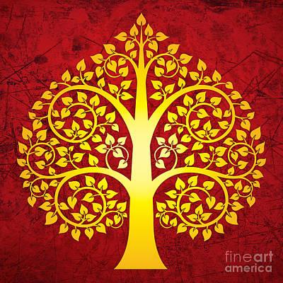 Golden Bodhi Tree No.1 Poster by Bobbi Freelance