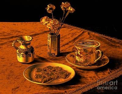 Golden Cappuccino Poster by Donald Davis