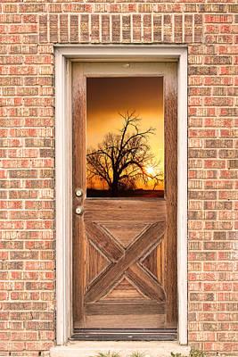Golden Doorway Window View Poster by James BO  Insogna