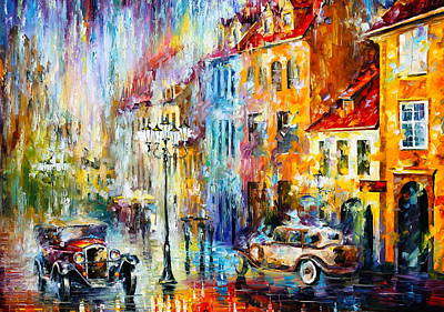 Golden Evening Poster by Leonid Afremov
