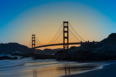 Golden Gate Sunrise Poster by Steve Gadomski