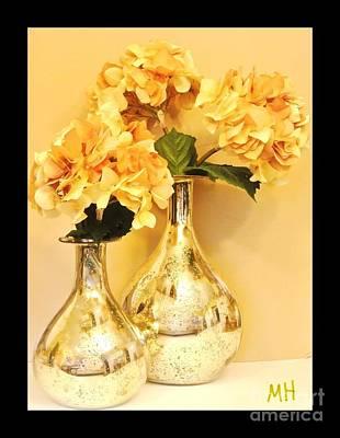 Golden Hydrangia Poster by Marsha Heiken