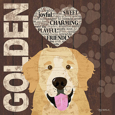 Golden Love Poster by Kathy Middlebrook