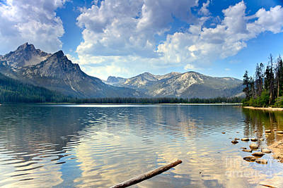 Golden Reflections On Stanley  Lake Poster by Robert Bales