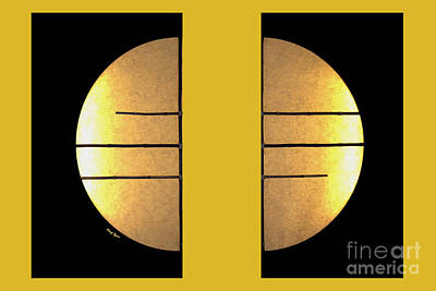 Golden Sun Diptych Poster by Cheryl Young