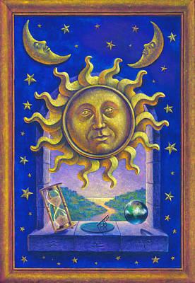 Golden Sun Gw Poster by Garry Walton