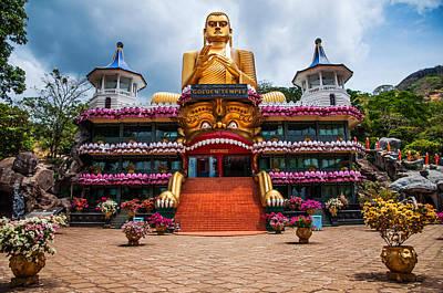 Golden Temple In Dambulla 1. Sri Lanka Poster by Jenny Rainbow