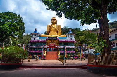 Golden Temple In Dambulla 2. Sri Lanka Poster by Jenny Rainbow