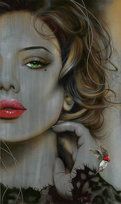 Portrait - ' Golden Utopia ' Poster by Christian Chapman Art