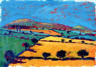 Golden Valley Acrylic On Card Poster by Paul Powis