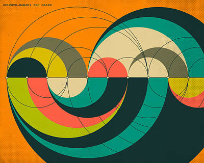 Goldner Harary Arc Graph Poster by Jazzberry Blue