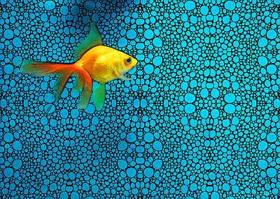 Goldfish Study 3 - Stone Rock'd Art By Sharon Cummings Poster by Sharon Cummings
