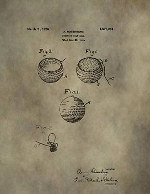 Golf Ball Patent Poster by Dan Sproul