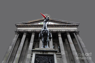 Goma Glasgow Pop Art Grey Poster by John Farnan