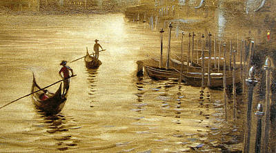 Gondoliers 2 Poster by Dmitry Spiros