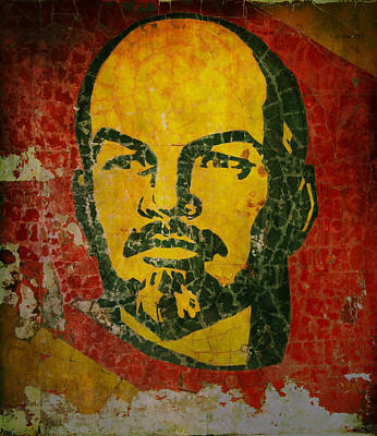 Goodbye Lenin Fresco In The Ex Soviet Military Base In Latvia  Poster by Guna  Andersone