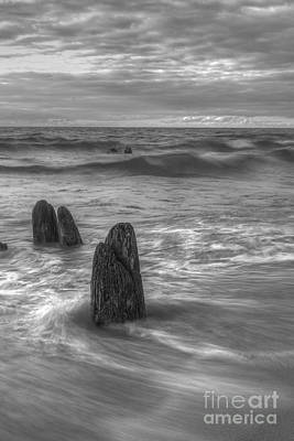 Good Harbor Beach In Black And White Poster by Twenty Two North Photography
