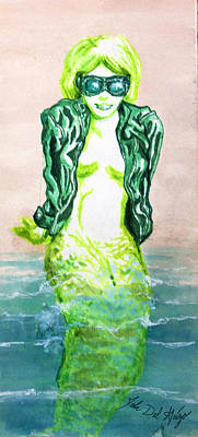 Good Morning Little Mermaid Poster by Del Gaizo