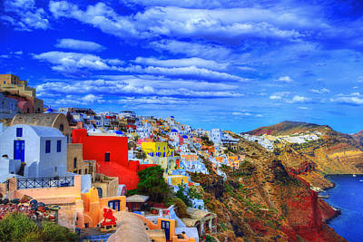 Good Morning Santorini Poster by Midori Chan
