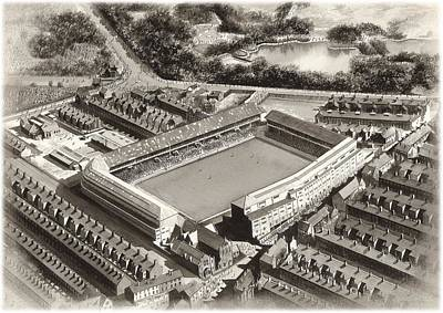 Goodison Park 1955 - Everton Poster by Kevin Fletcher