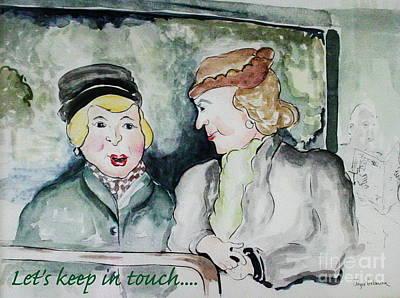 Gossip On The Bus Poster by Joyce Gebauer