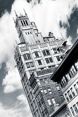 Gothic Towers - Asheville North Carolina Poster by Mark E Tisdale