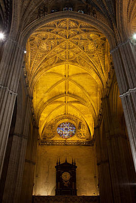 Gothic Vault Of The Seville Cathedral Poster by Artur Bogacki