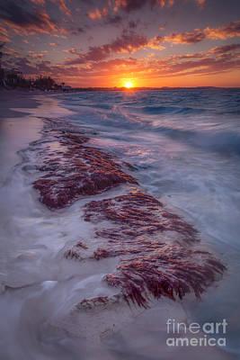 Grace Bay Sunset Poster by Marco Crupi