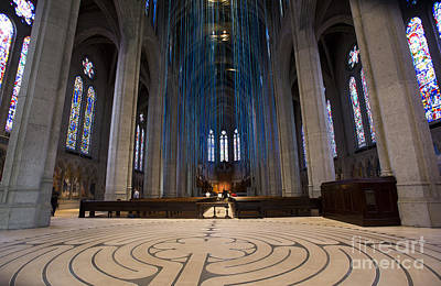 Grace Cathedral Poster by David Bearden