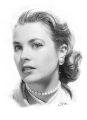 Grace Kelly Pencil Poster by Steve K