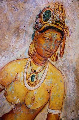 Graceful Apsara. Sigiriya Cave Painting Poster by Jenny Rainbow