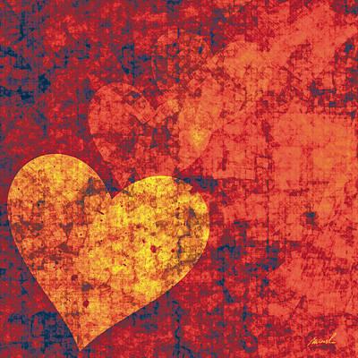 Graffiti Hearts Poster by The Art of Marsha Charlebois