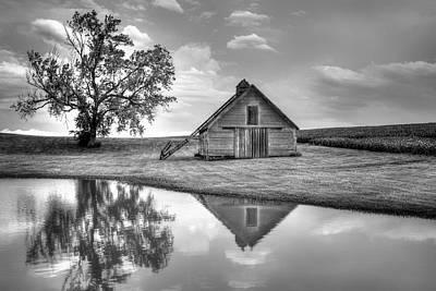 Grain Barn - Lone Tree Poster by Nikolyn McDonald