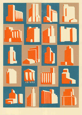 Grain Silos Poster by Eliza Southwood