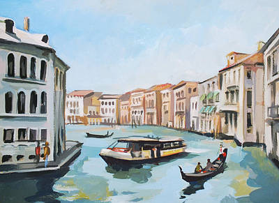 Grand Canal 2 Poster by Filip Mihail