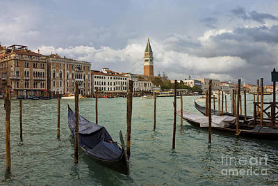 Grand Canal In Venice After Storm Poster by Kiril Stanchev