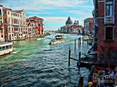 Grand Canal Poster by Sylvia Cook