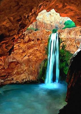 Grand Canyon Havasu Falls Poster by Bob and Nadine Johnston
