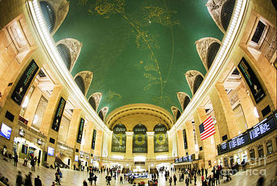 Grand Central Station New York City On Its Centennnial  Poster by Diane Diederich