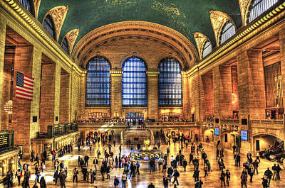 Grand Central Terminal Poster by Randy Aveille