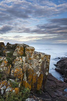 Grand Marais Cliffs Poster by Thomas Pettengill