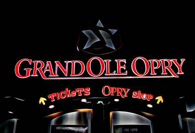 Grand Ole Opry Entrance Poster by Dan Sproul