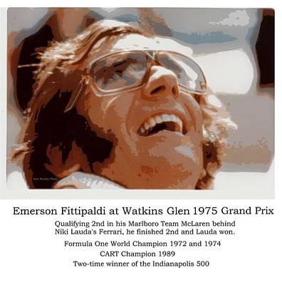 Grand Prix Champion Emerson Fittipaldi Poster by Don Struke