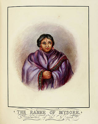 Grandmother Of The Rajah Poster by British Library