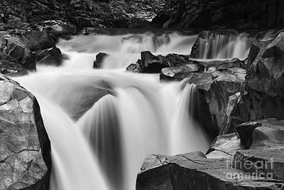 Granite Falls Black And White Poster by Mark Kiver