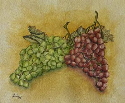 Grape Cluster Poster by Kelly Mills