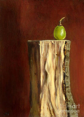 Lebensmittel Poster featuring the painting Grape On Wood by Ulrike Miesen-Schuermann