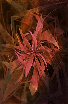 Grass Abstract - Fire Poster by Marianna Mills