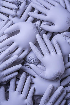 Gray Hands Poster by Garry Gay