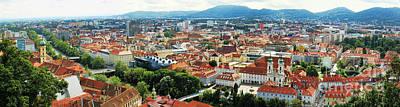 Graz Panorama Poster by Mariola Bitner